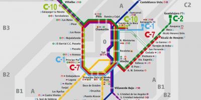 Mapa De Tren Madrid.Madrid Mapa Planols De Madrid Espanya